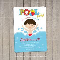 Pool Swim Party Invitation