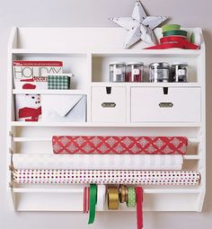 25 Ways To Organize Your Gift Wrapping + A $250 Organize.com Gift Card Giveaway!   One Good Thing By Jillee