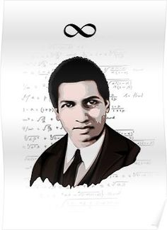 'Srinivasa Ramanujan' Poster by HereticWear Mathematical Analysis, Mathematics, G H Hardy, First Year Of College, University Courses, Magic Squares, Math Jokes, Divergent Series, Science