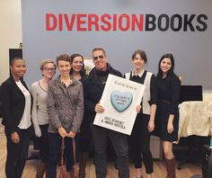 Greg Behrendt, bestselling author of 'He's Just Not that Into You' and co-author of 'It's Just a F***Ing Date,' visited Diversion Books' New York City offices on October 24. Pictured (l. to r.): Brielle Benton, marketing & publicity associate; Laura Duane, acquisitions editor; Kerry Sparks, agent & digital rights manager at LGR Literary Agency; Mary Cummings, v-p and editorial director; Behrendt; Sarah Masterson Hally, production manager; and Hannah Black, marketing coordinator.