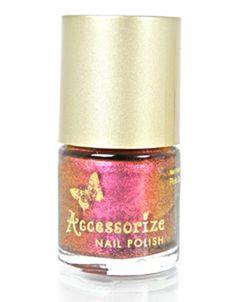 Pink Spice Illusion Nail Polish   Pink   Accessorize