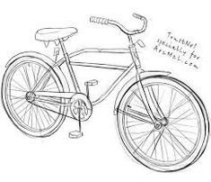 This easy tutorial will help you learn to draw a cartoon bicycle! So let's see how you could draw a simple bicycle in seven easy steps! Finally, add the basic shapes for the saddle, the handlebars and the pedal. Bicycle Sketch, Bicycle Drawing, Bike Drawing Simple, Drawing Tutorials, Drawing Techniques, Drawing Tips, Drawing Ideas, Giant Bikes, Zentangle