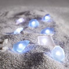 Pier 1 Imports Sea Glass 10' LED Glimmer Strings (£16) ❤ liked on Polyvore featuring home, lighting, battery powered lamps, battery operated outdoor lights, battery operated lamps, tree lights and battery lights