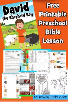 Free printable Bible lesson from 1 Samuel where Samuel anoints David, a young shepherd boy, as the next king of Israel. Included games, worksheets, coloring pages and more. Preschool Bible Lessons, Bible Activities For Kids, Bible Crafts For Kids, Bible Study For Kids, Bible Lessons For Kids, Kids Bible, Sunday School Curriculum, Sunday School Activities, Free Sunday School Lessons