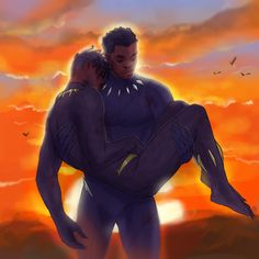 Ow, this hurts =( I wish there was a scene with T'Challa carrying N'Jadaka's lifeless body and giving him a proper burial Heros Comics, Marvel Dc Comics, Marvel Heroes, Marvel Avengers, Batwoman, Nightwing, Red Hood, Cute Gay, Johnlock