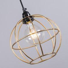 Lámpara colgante FRAME Luxe A oro #interiorismo #decoracion #luz