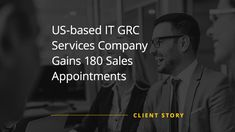 The Client is a full-service IT firm with a multi-disciplined team that can handle every aspect of business IT. Data Quality, Increase Sales, Lead Generation, Appointments, Case Study, Gain, Success, Handle, Business