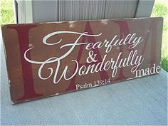 Hand Painted Wood Sign red and brown wood signs by DesignsOnSigns3, $35.00