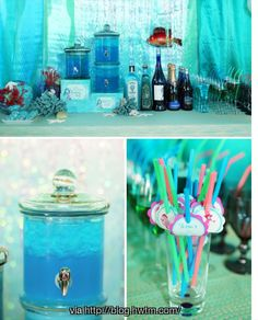 Little Mermaid party adult spot. Blue curaco
