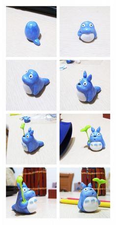 最喜爱的小龙猫  软陶制作  嚯嚯 = = +