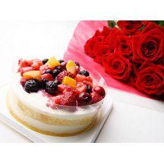 Quattro Berries Torte Et Roses Livraison Fleurs Japon Envoyer Des Fleurs