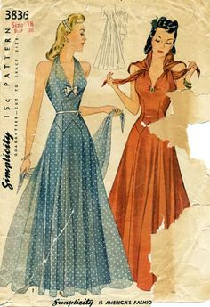Beautiful 40's dress! I love this in the rust color