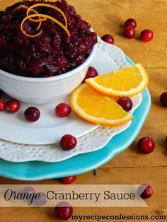 Orange Cranberry Sauce. This is one of the best recipes for cranberry sauce I have ever had! Don't buy the canned stuff. Why not diy when it is so easy and tastes 100% better. Trust me, your thanksgiving will be so much better with this Orange Cranberry Sauce!:
