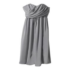 Womens Strapless Wrap-Front Chiffon Dress - Assorted Colors $69.99