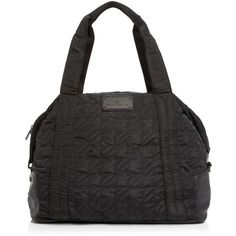 adidas by Stella McCartney Tote ($185) ❤ liked on Polyvore featuring bags, handbags, tote bags, black, quilted nylon tote, lightweight purses, lightweight gym bag, quilted tote and adidas