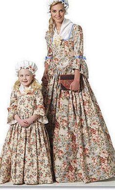 3 pc colonial women dress DAR martha washington betsy ross costume made to measurement large