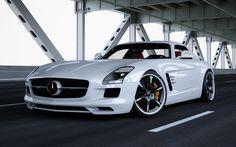 White Mercedes SLS AMG 2