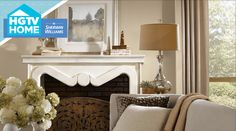 Colors from the Neutral Nuance color palette from HGTV Home by Sherwin-Williams combined with the softest hints of color offer a quiet, understated atmosphere.