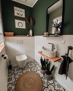 Toilet And Bathroom Design, Small Toilet Room, Bathroom Interior Design, Guest Toilet, Bathroom Designs, Bathroom Ideas, Wc Bathroom, Cozy Bathroom, Bathroom Vintage