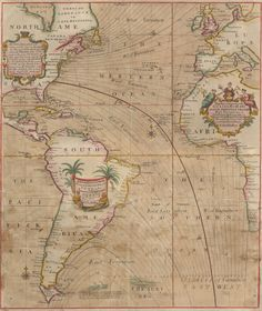 """A New and Correct Chart Shewing the Variations of the Compass in the Western & Southern Oceans as Observed in ye Year 1700 by . . . Edm Halley"" [London: s.n., 1701?] Copperplate map, with added color, 56 × 48 cm [Historic Maps Collection]. Princeton's copy is an unrecorded state."