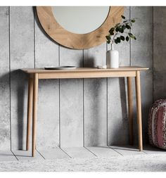A welcome touch of modernism, this beautifully simple Console Table offers light-hearted Scandinavian style for the home. Introducing this contemporary coffee table, with oak veneer, linoleum table to Entryway Console Table, Wooden Console Table, Modern Console Tables, Hall Tables, Contemporary Coffee Table, Contemporary Interior, Light Oak, Solid Oak, Scandinavian Style