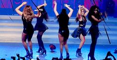 Fifth Harmony is dancing on the stage.