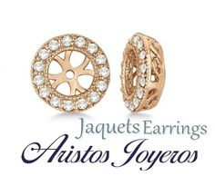 Preciosos jaquet para aretes... Una moda para tus aretes!! #Moda #Estilo #Diamantes #Diseño #Color #Belleza