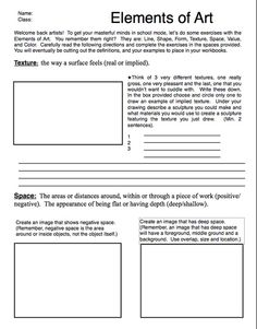 Printables Elements And Principles Of Art Worksheet everything shape and elements of art line on pinterest worksheets principles design elements