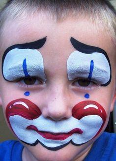 Cute Little Clown face painting.