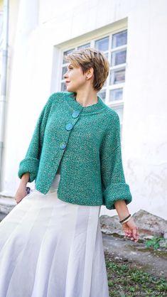Knit Cardigan Pattern, Sweater Knitting Patterns, Jacket Pattern, Knitting Designs, Knitted Jackets Women, Crochet Coat, Sweater Design, Knit Jacket, Crochet Fashion