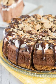 S'mores Cheesecake - a sure-fire show-stopper, and a great alternative to a traditional campfire smore.   bakedbyanintrovert.com