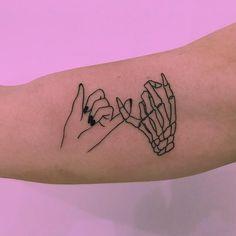 minimalist tattoo meaning Dope Tattoos, Mini Tattoos, Subtle Tattoos, Body Art Tattoos, Small Tattoos, Tattos, Leg Tattoos, Pretty Skull Tattoos, Sweet Tattoos