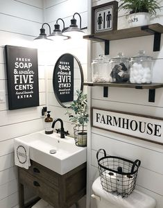 half Bathroom Decor Half Bathroom Ideas Small Decor Powder Rooms The Conspiracy 32 - Small Bathroom Organization, Bathroom Styling, Half Bathroom Decor, Organization Ideas, Half Bath Decor, Bathroom Colors, Bathroom Storage, Bathroom Interior, Rustic Bathroom Decor