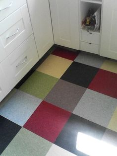 Armstrong VCT Floor. Got this idea years ago from a friend. My basement floor may end up looking something like this.