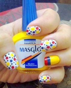 #Mundial2014 #masglolovers #inspiration (Diseño de #VikyAlexandra vía #Twitter) French Manicure Designs, Toe Nail Designs, Simple Nail Designs, Love Nails, Fun Nails, Pretty Nails, Nailart, Nail Time, Girls Nails