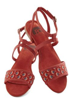 All's Flair in Love Sandal in Fans, #ModCloth