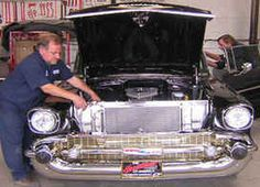 Working on a 57 Chevy
