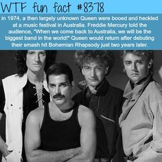Tagged with queen, freddie mercury; Shared by In honor of the (U.S) release of Bohemian Rhapsody today, here is a Queen half-dump for you! Funny Facts, Weird Facts, Random Facts, Movie Facts, Random Stuff, Funny Stuff, Brian May, Galileo Galileo, Queen Facts