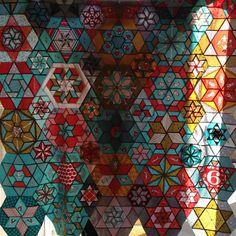 Crazypants Starts and Hexagon quilt.