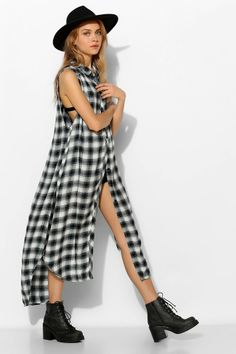 BDG Grunge Sleeveless Maxi Tunic