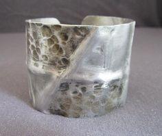 Aluminum Metal Fold Formed Cuff Bracelet by FirednWiredJewelry