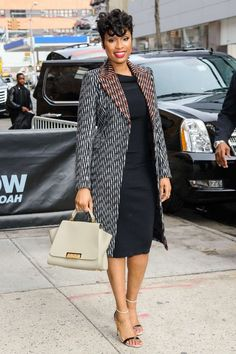 Jennifer Hudson Arrives at Daily Show with Trevor Noah in New jd c. Latest African Fashion Dresses, African Print Dresses, African Dresses For Women, African Print Fashion, African Attire, Jennifer Hudson, New Yorker Mode, Bohemian Mode, Mode Top