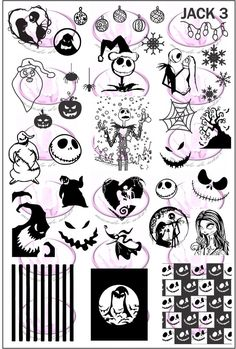 ZZ JACK 3 Stamping plate Plate size is All our plates are made of stainless steel and have a back end to prevent injuries. Movie Tattoos, Disney Tattoos, Nightmare Before Christmas Drawings, Tattoo Nightmares, Mononoke, Nagel Stamping, Friday The 13th Tattoo, Nail Stamping Plates, Dark Art