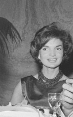 "First Lady Mrs ~~Jacqueline Lee (Bouvier) Kennedy Onassis ""Jackie"" (July 28, 1929 – May 19, 1994). She is remembered for her contributions to the arts and preservation of historic architecture, her style, elegance, and grace. She was a fashion icon; her famous ensemble of pink Chanel suit and matching pillbox hat has become symbolic of her husband's assassination and one of the lasting images of the 1960s.    Date 1960 ♡❀♡✿♡❁♡✾♡✽♡❃♡❀♡ http://en.wikipedia.org/wiki/Jacqueline_Kennedy_Onassis"