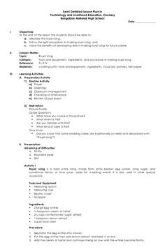 Semi Detailed Lesson Plan in Technology and Livelihood Education… - New Site 4a's Lesson Plan, Grammar Lesson Plans, Lesson Plan Format, Lesson Plan Examples, Science Lesson Plans, Teacher Lesson Plans, Grammar Lessons, Science Lessons, Economics Lessons
