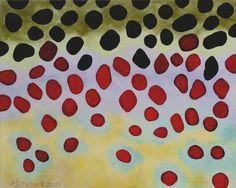 Maruia Brown Trout Skin Art for wall art in cabin