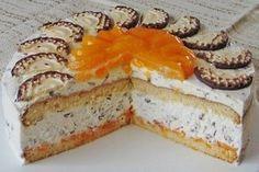 Chocolate cake with tangerines - Negerkuss Torte - Dessert Homemade Cake Recipes, Cupcake Recipes, Snack Recipes, Dessert Recipes, Torte Au Chocolat, Pumpkin Spice Cupcakes, Fall Desserts, Macaron, Ice Cream Recipes