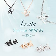 Lextia精鋼菱角首飾系列 今年5月,Lextia為 Xclusive 精鋼首飾系列增添新意,以日本摺紙藝術為設計靈感,簡約線條為創作主調。經過光滑打磨的精緻首飾,完美呈現女性時尚優雅的動人氣質。 Lextia Origami-Inspired Stainless Steel Jewelries Taking Japanese origami art as a primary inspiration, the costume jewelries are complemented with simple outlines and delicate finishing. These are the pieces which will bring out timeless elegance and sensibility.  Lextia Latest Collection最新系列: https://www.lextiagroup.com/products.php/new