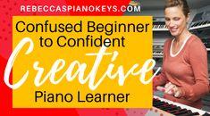 Confused Beginner to Confident, Creative Piano Learner Learn Piano Beginner, Piano Lessons For Beginners, Piano Music, Sheet Music, Learning Music, Music Lessons, Musicals, Confidence, Zero