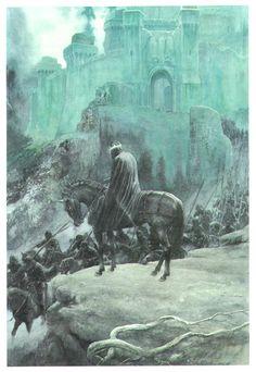 Nazgul at Mordor ~ Alan Lee
